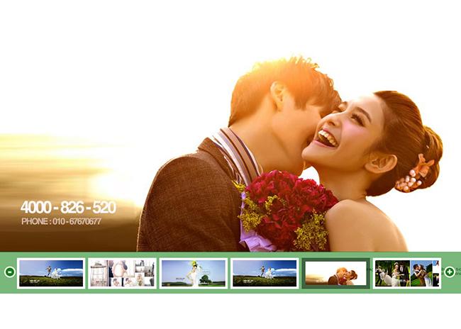 jquery实现婚纱摄影网站宽屏图片幻灯片轮播切换特效