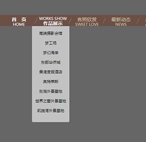 jquery实现中英文字切换导航条,鼠标悬停滑动下拉二级导航菜单