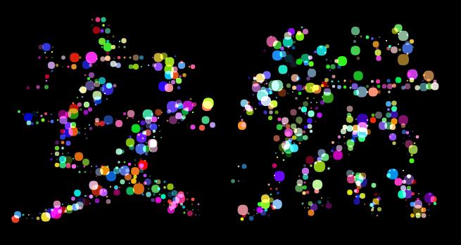 js+html5粒子效果浪漫表白的粒子文字动画特效