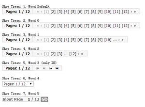js showPages插件,实现网站分页特效
