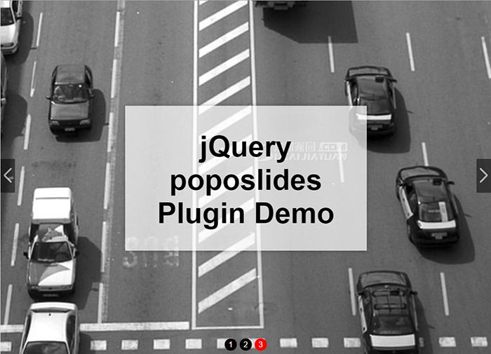 jQuery poposlides插件实现轻量级全屏自适应焦点图幻灯片切换特效代码