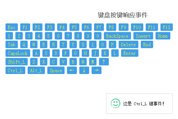 jquery onclick插件实现按键盘响应事件特效代码
