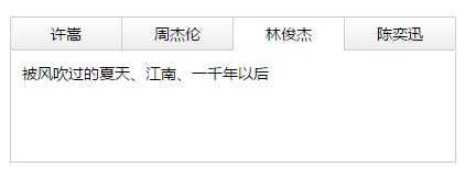 js实现网站常用简洁的TAB选项卡淡出淡进切换特效代码
